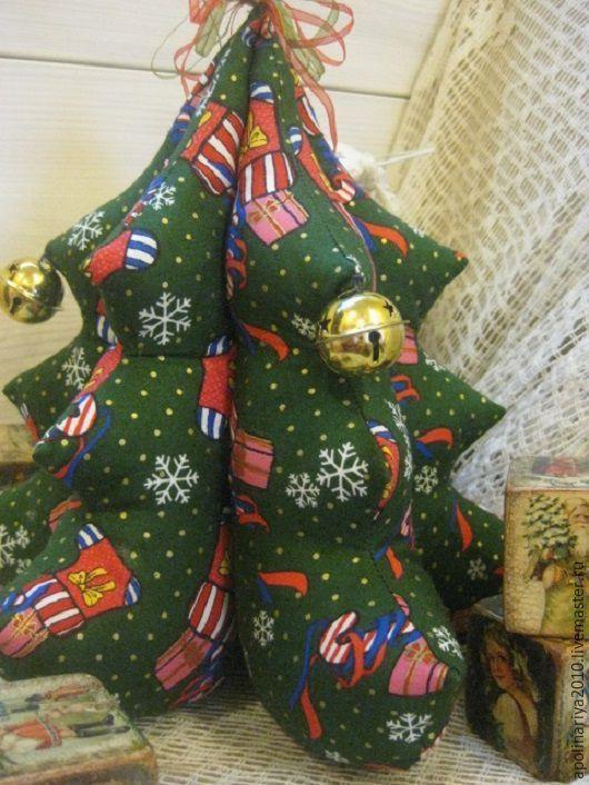 Купить Елочка текстильная Новогодняя - зеленый, елочка, елочка новогодняя, елка, елка новогодняя