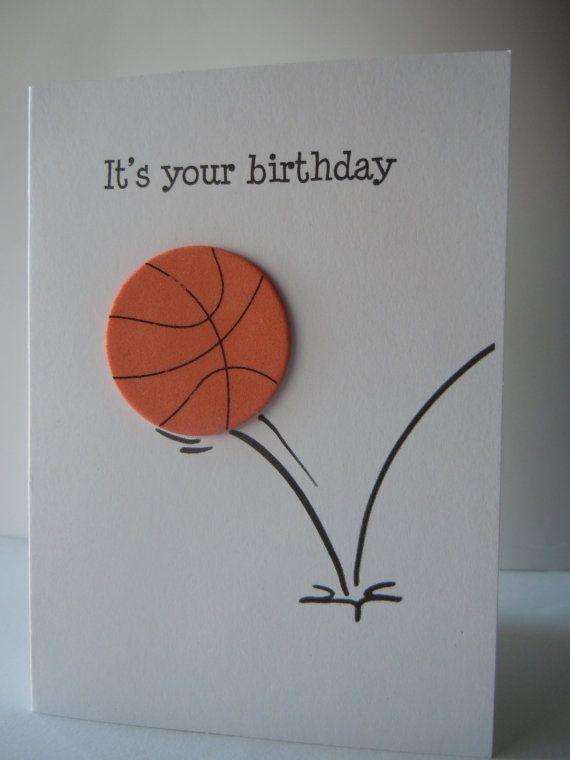 Basket Happy Birthday Handmade Greeting Card con di lindaoakes