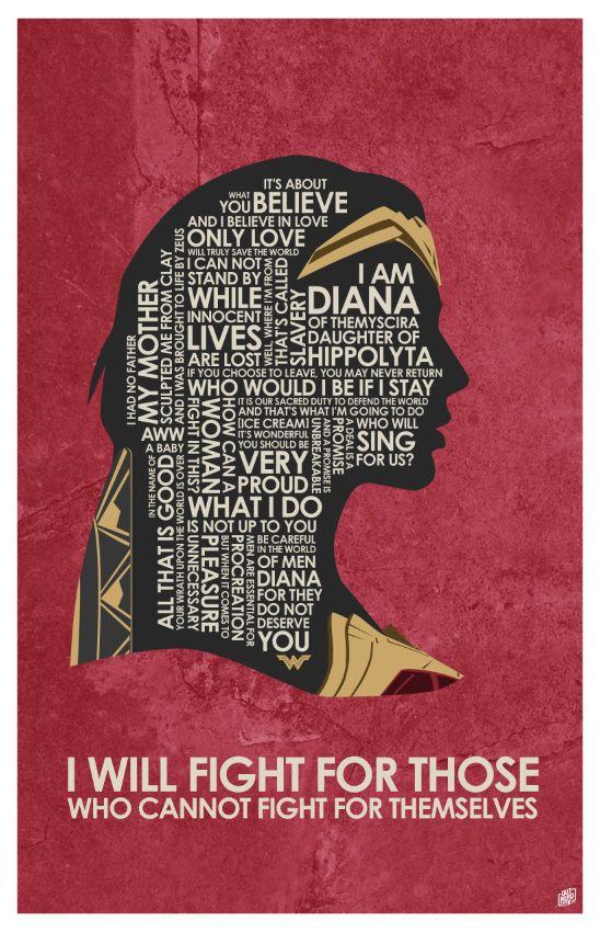 Wonder Woman Quote Poster by OutNerdMe.com tell your friends! #wonderwoman #galgadot
