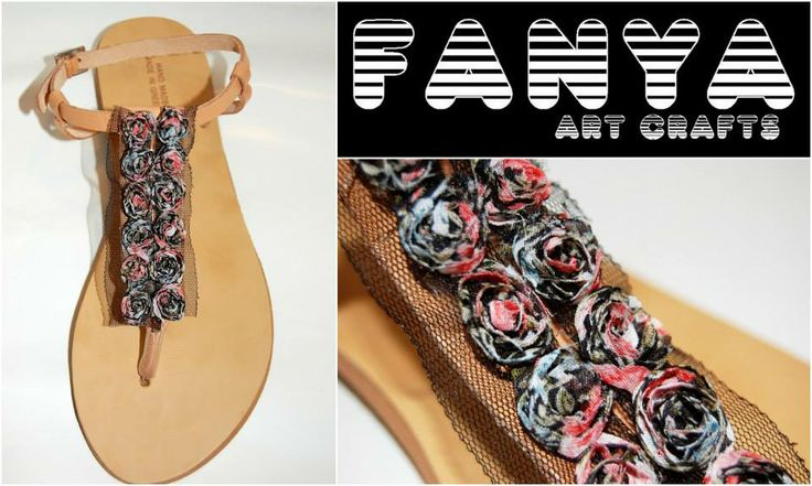 "handmade sandals ""rose noir""  #handmade #sandals #fanya"