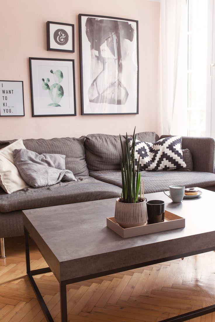 die besten 25+ rosa wohnzimmer ideen auf pinterest | graues couch, Moderne deko
