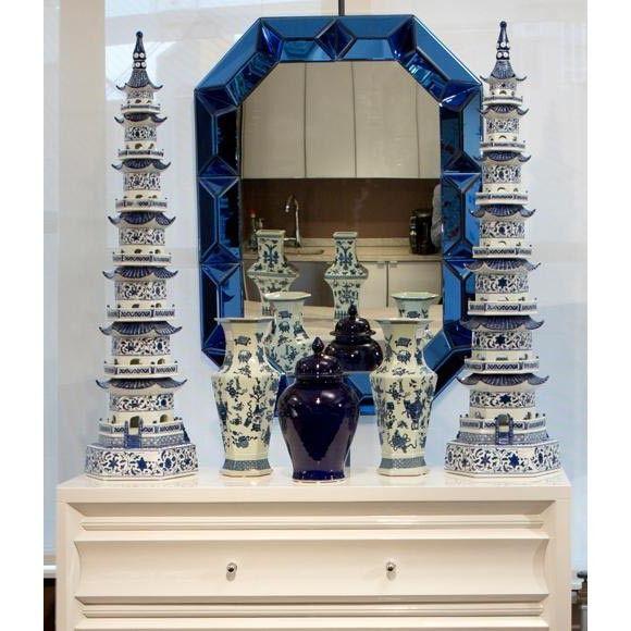 Romano Wall Mirror, Blue #bungalow5 #mirror #interiorhomescapes #walldecor #furniture #home #design