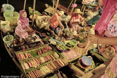 Hat Yai City. A Night in Khlong Hae Floating Market.