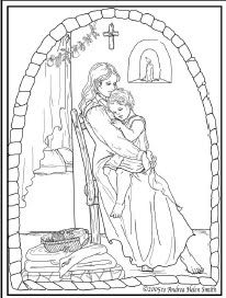 St. Rose of Lima Catholic Coloring Page.  Feast day is August 23rd.