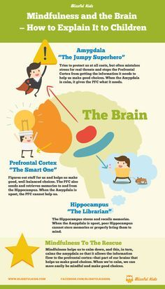 Mindfulness and the Brain How to Explain It to Children Infographic