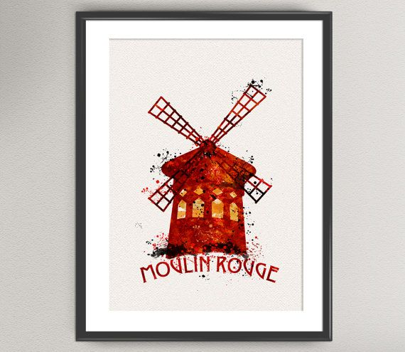 Hey, I found this really awesome Etsy listing at https://www.etsy.com/listing/253371627/moulin-rouge-n1-watercolor-art-print