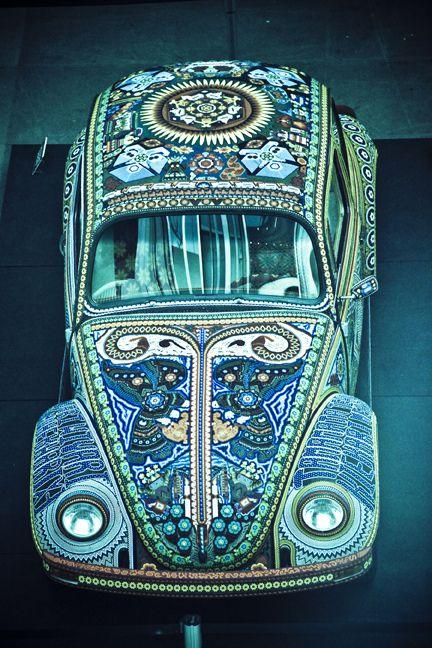 Blue Hippie car