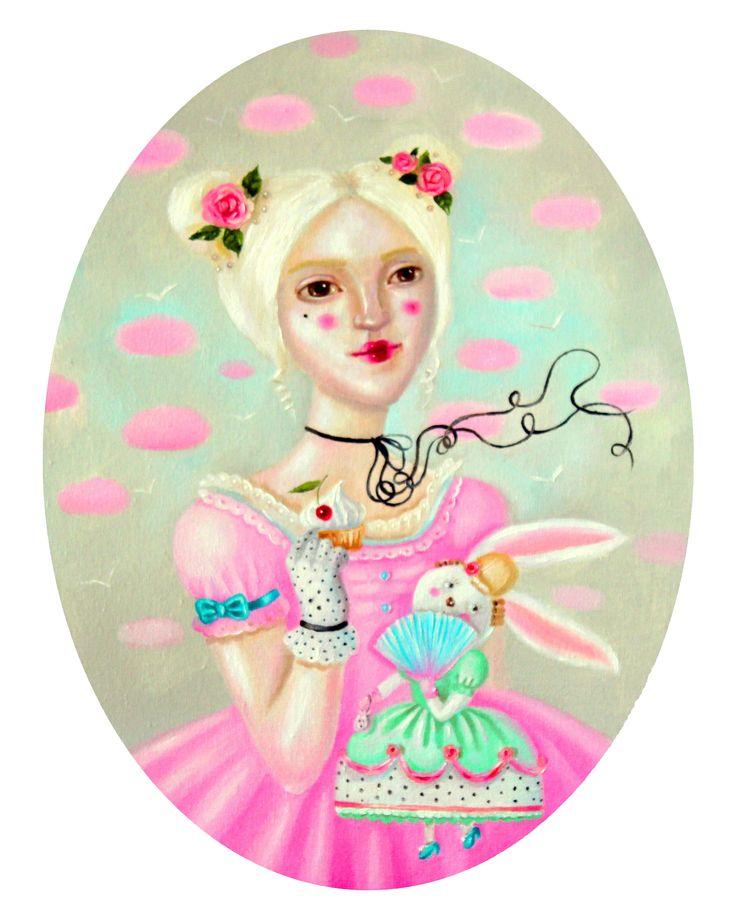 Like a little Marie-Antoinette #painting oil on canvas #oilpainting #art #baroque #marieantoinette