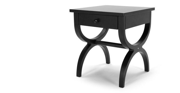 Leila Bedside Table, Black