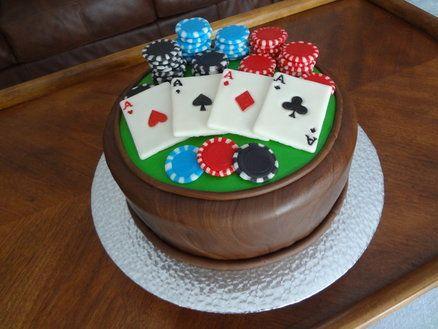 Poker themed cake