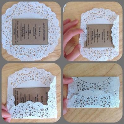 Doily Envelopes Acute Designs: Lovely DIY Designs