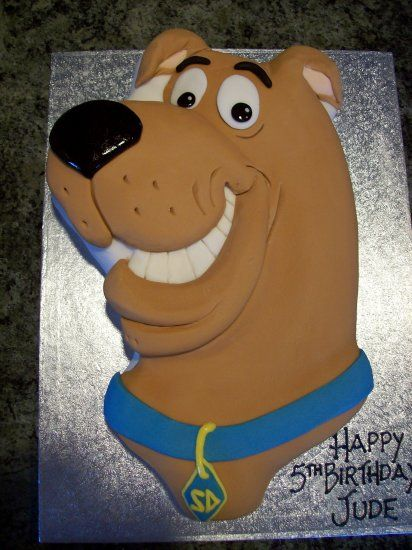 scooby-doo cakes | Scooby-Doo Shaped Birthday Cake