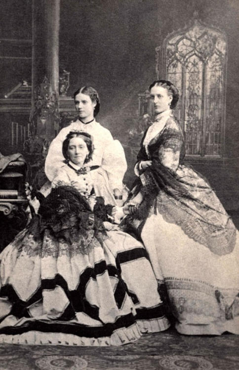 Nicholas' mother Dagmar (later Maria Feodorovna) her sister Alexandra and their mother.