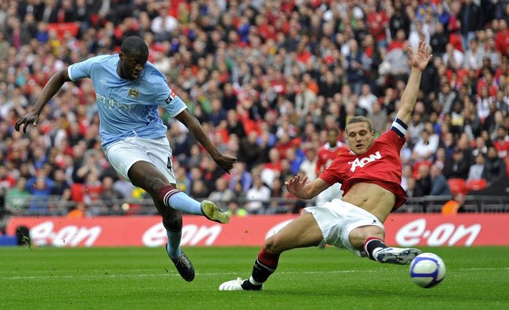 Yaya Toure scores the only goal of the game in the FA Cup Semi-Final against Man Utd in 2010/11. Toure would go on to also score the winning goal in the FA Cup Final against Stoke City.