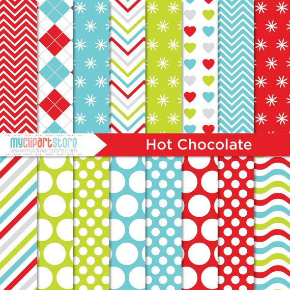 50% OFF SALE Clipart Combo Hot Chocolate / by MyClipArtStore