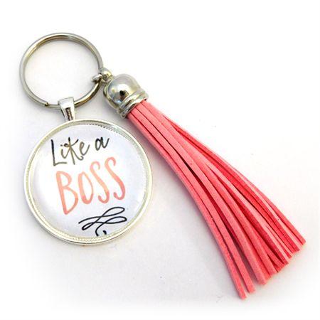 Quirky Secret Santa / Kris Kringle Ideas: Like a Boss - Tasseled Key Ring (large)