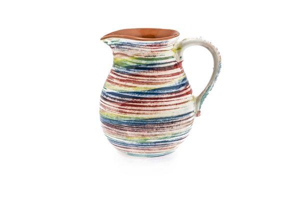 Casa Uno Terracotta 1 liter Water Jug W/ Pico Design Multicolor Dinnerware NEW