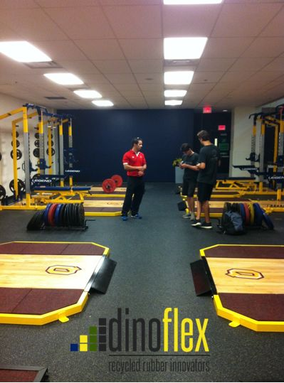 Let's take this to the NEXT STEP™. Our Next Step™ High Impact and High Impact Extreme are the perfect flooring options for gym spaces that need that little extra defence. Check out www.dinoflex.com to make the next step with us. #Dinoflex #Fitness #Gym #Weightlifting #Tough #UniquelyDifferent