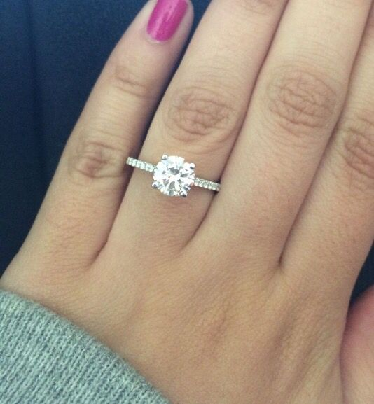 Simple & classic :) round solitare w micro pave band.