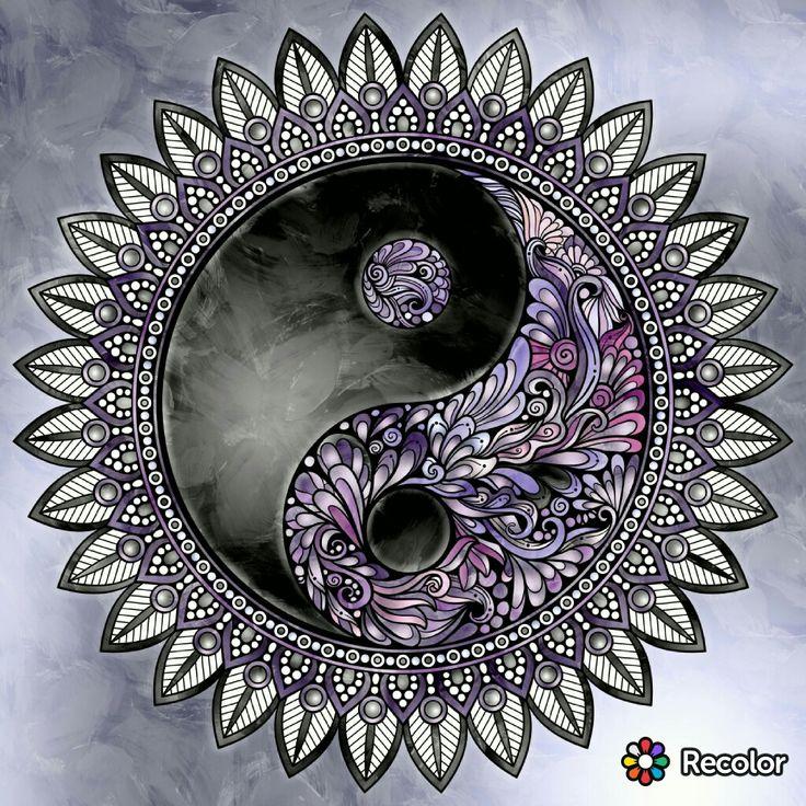 pinkathy mainville on my coloring  yin yang ying