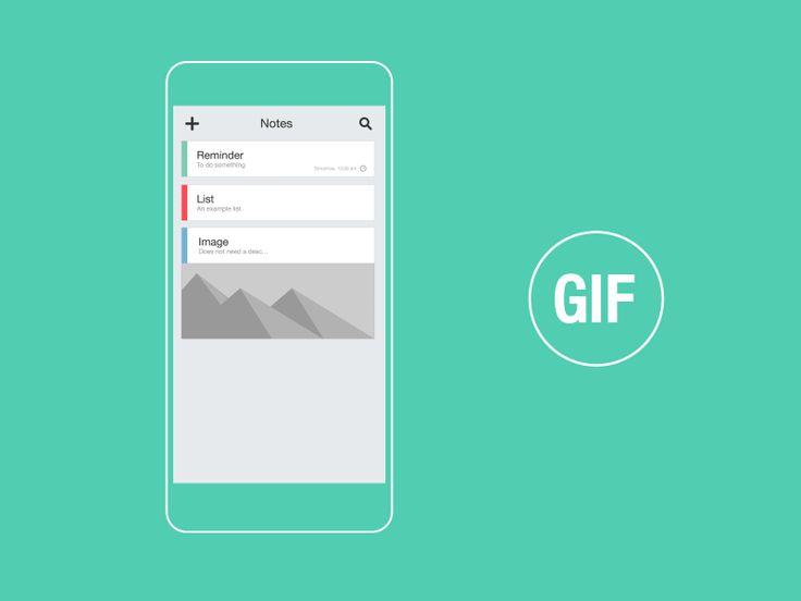 Dribbble - Notes & Reminder App GIF by Jokūbas Setkauskas #UImotion