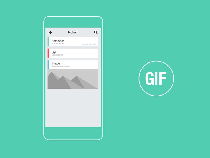 Dribbble - Notes  Reminder App GIF by Jokūbas Setkauskas #UImotion