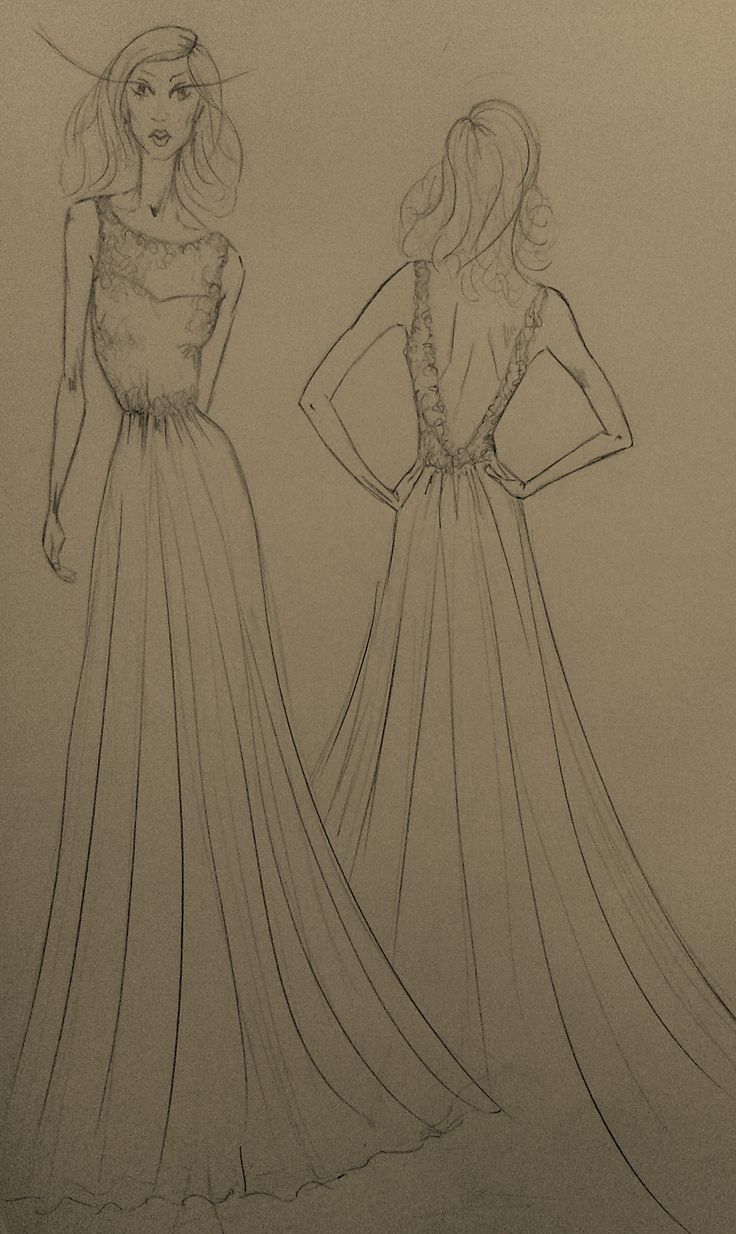 Drawing for a client's wedding dress #fashiondrawing #sketch #design #fashionillustration #illustration