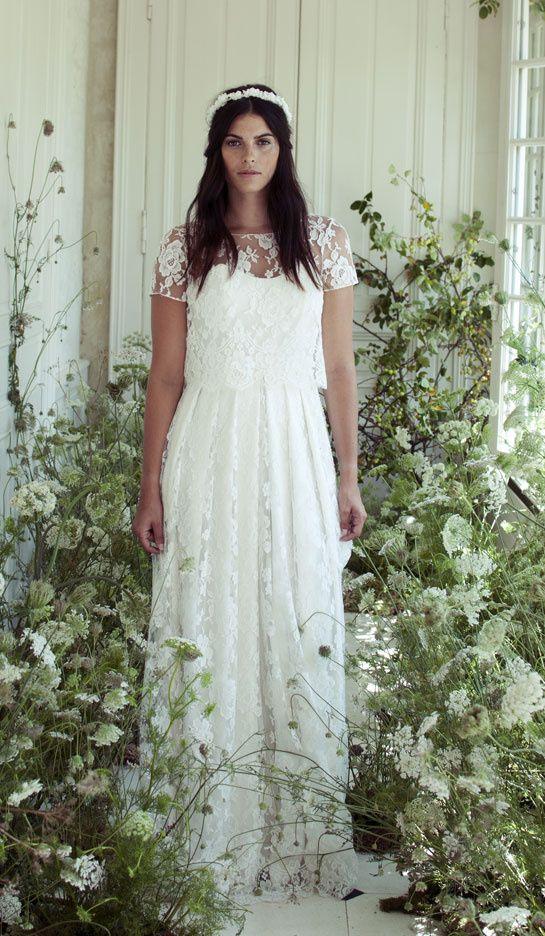 Robe de mariée en dentelle style bohème - Robe: Elise Hameau collection automne 2015 - La Fiancée du Panda blog Mariage et Lifestyle