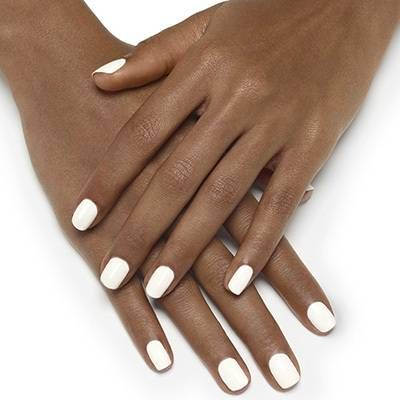 blanc by essie - pure snowy white lacquer creates an elegant manicure look.