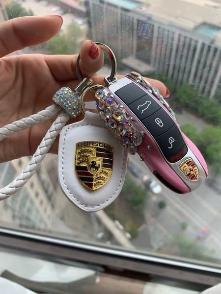 Bling Autoschlüsselhalter mit Strass für Porsche 2011-2017 Alle Modelle 911 71… #Luxury Cars