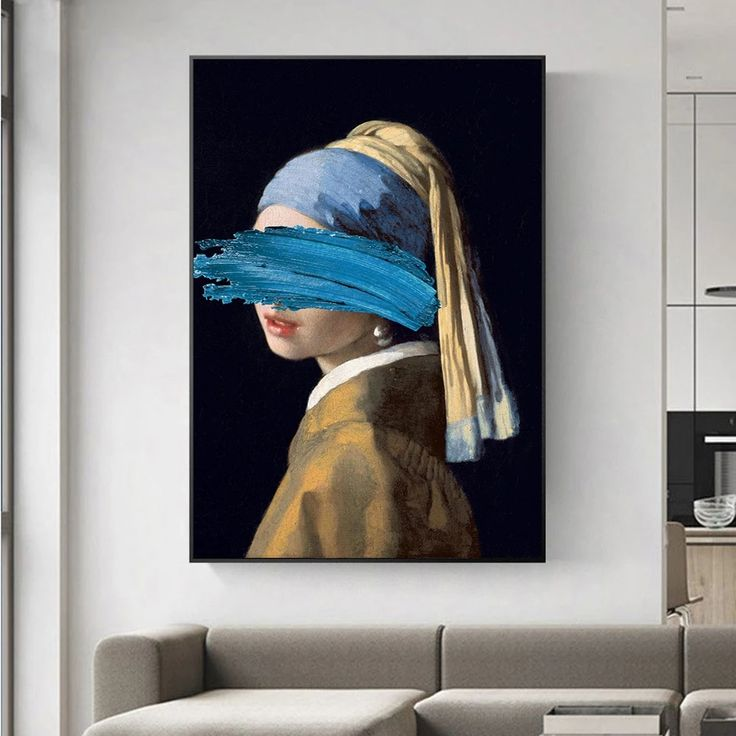 Altered Abstract Famous Paintings Wall Art Girl With A Pearl Earring B Nordicwallart Com Pop Art Posters Famous Artwork Pop Art