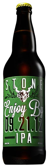 "Stone - Enjoy By 09.21.12 IPA - There's no words for this beer! This is THE BEST IPA I have EVER had! Period. This is a big boy from legendary brewery Stone. HUGE kudos for having the ""best by date"" clearly on the bottle for retailers and consumers to plainly see!"