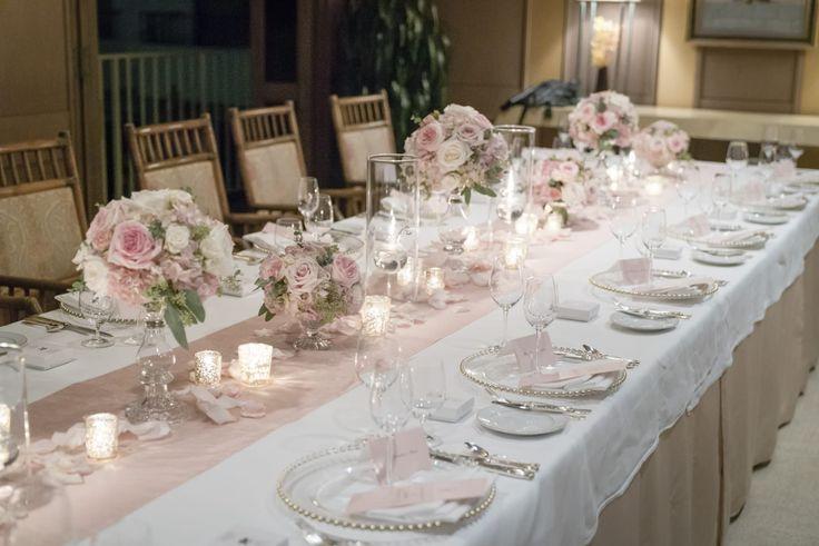 Photography: ILUMINI  #ウエディング #ハワイ #ハワイウエディング #海外ウエディング #披露宴 #テーブルコーデ #テーブル装花 #ハレクラニホテル