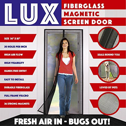 Magnetic Screen Door New 2017 Patent Pending Design Full Frame Velcro & Fiberglass Mesh Not Polyester This Instant Retractable Bug Screen Opens and Closes like Magic it's the Last Screen You'll Need - Full Frame Magnetic Screen Door Velcro & Fiberglass Heavy Duty Mesh. #1 Amazon Magnetic Screen Door Instantly Retractable Bug & Insect Screen Opens & Closes with Ease! It's the Last Screen You'll Ever Buy!