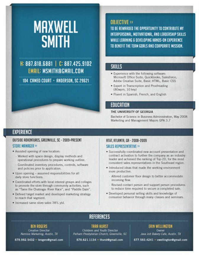High Quality Custom Resume/CV Templates | UltraLinx
