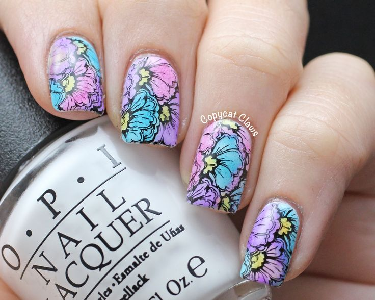 Copycat Claws: Sunday Stamping featuring OPI Sheer Tints