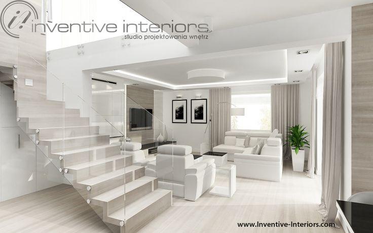 Projekt salonu Inventive Interiors - beż w salonie