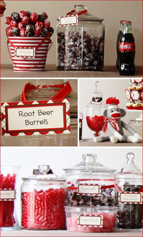Sock monkey party- SO adorable. A friend posted this and it is SUCH a GREAT idea!