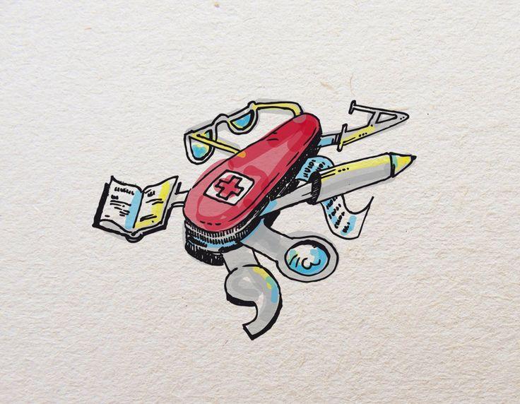 Illustrazione - corso di scrittura - digital rendering 2012