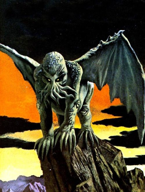 """""""The Disciples of Cthulhu"""" artwork by Karel Thole (1974)"""
