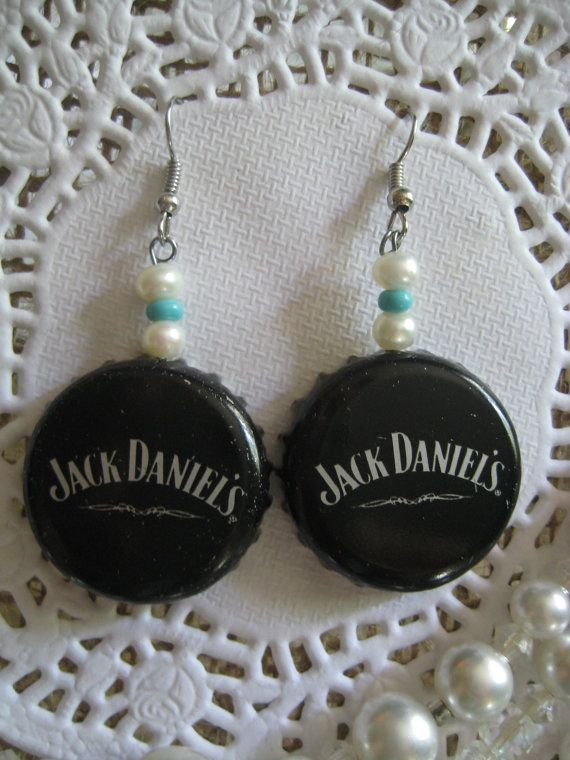 Jack Daniel's Bottle Cap Freshwater Pearl by OrnamentalElegance, $12.00