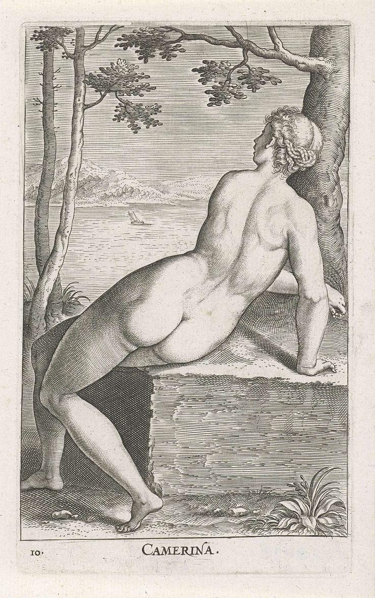 Waternimf Camerina, Philips Galle, 1587