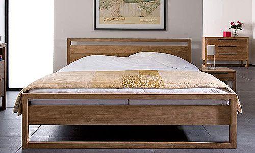 Dormitorios con personalidad - Cana y mesita noche en Teca Natural, Artespana - Cama sin lamas en teca natural, de medidas: 150 x 200 x 95, 160 x 200 x 95, 180 x 200 x 95, 160 x 220 x 95, 180 x 220 x 95. Mesita de noche con un cajon: 48 x 44 x 48h