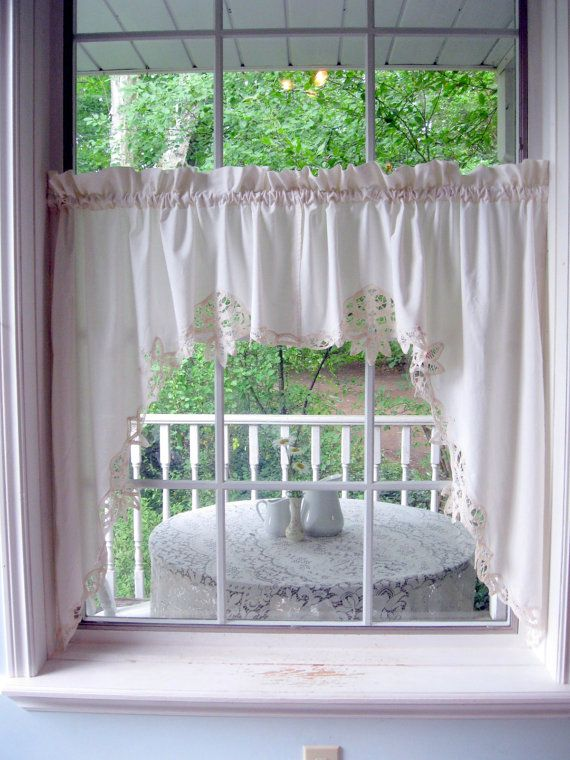 Lace, Cas and Lace curtains on Pinterest