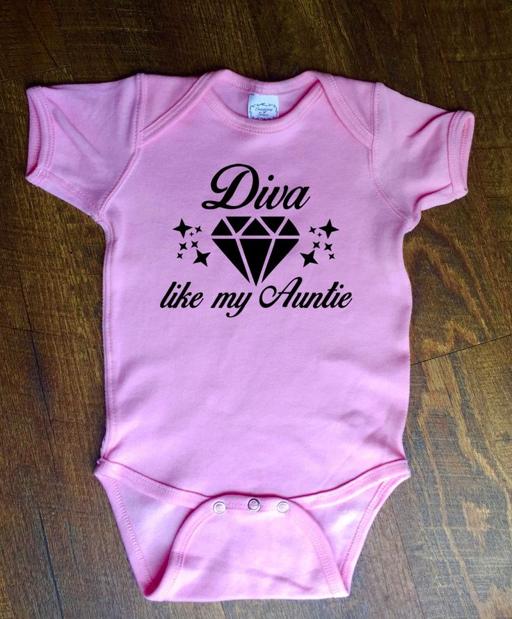 Diva Like My Auntie - Like My Aunt - Baby Diva - Baby Iron On - Baby Shirt - Funny Baby Onesie by MyLittleCraftyThings on Etsy https://www.etsy.com/listing/386147134/diva-like-my-auntie-like-my-aunt-baby