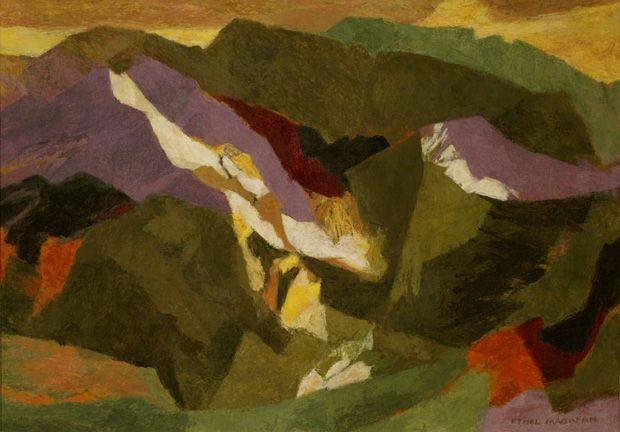 "Ethel Magafan, ""Above the Desert,"" c.1950, Tempera on masonite, David Cook Fine Art."