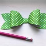 How to make this paper bow.  There is a printable template and easy directions.  So cute and so quick and so inexpensive