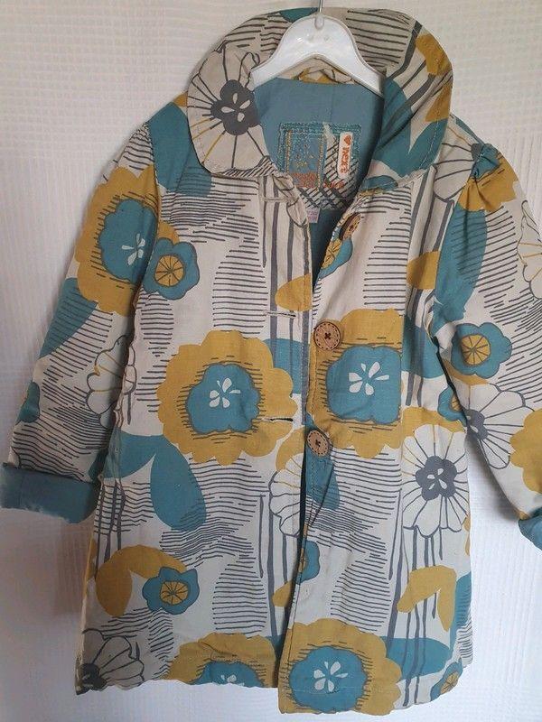 Next Plaszcz Kurtka Kids Kwiaty Ocieplanakurtka Rain Jacket Jackets Fashion