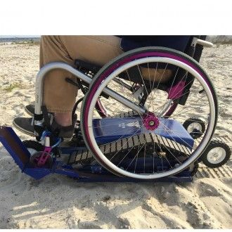 Freedom Trax is the only motorized wheelchair track attachment designed to transform a manual wheelchair into an off-road vehicle that can traverse