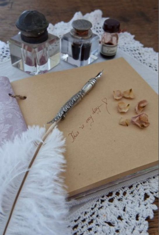 """This diary and marvelous ink pen are from our feature """"Go with the Flow"""""""